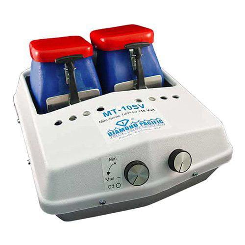 Diamond Pacific MT-10 Mini-Sonic Vibrating Rock Tumbler - 2 Hoppers