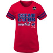 Girls Youth Red Chicago Cubs Play Dri T-Shirt
