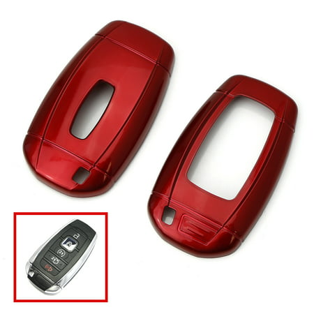 iJDMTOY Glossy Metallic Red Exact Fit Key Fob Shell Cover For 2018-up Lincoln MKZ MKC Navigator, 2017-up Continental