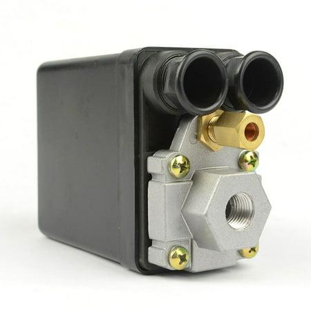 Interstate Pneumatics LF10-L1H Pressure Switch - 1/4 inch FPT Single Port - Push Pull Switch 20 amps 85-125 psi fits Dewalt Hitachi Emglo Makita Porter Cable Ridgid Rolair air compressors