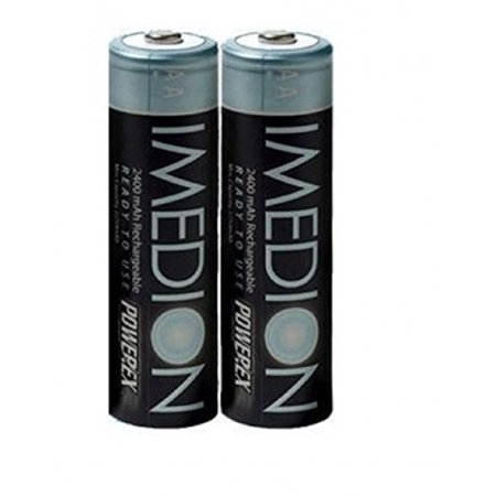 2 PowerEx Imedion AA 2400mAh Rechargeable Batteries