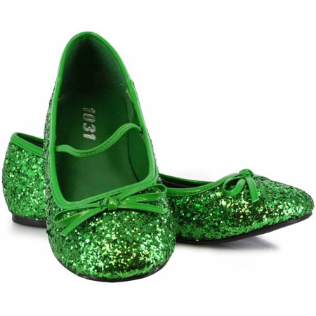 Green Sparkle Flat Shoes Girls' Child Halloween Costume - Halloween Color Pages Online
