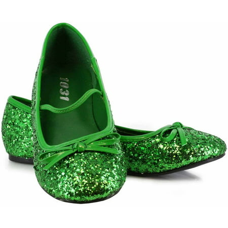 Green Sparkle Flat Shoes Girls' Child Halloween Costume Accessory
