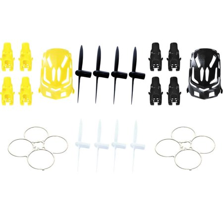 Hubsan Nano Q4 H111  Qty  1  Nano Body Shell H111 01 Black Quadcopter Frame W  Motor Supports  Qty  1  Yellow  Qty  2  Protection Cover Guard Propeller Protector Trainer White H111 10  Qty  1  All Bla
