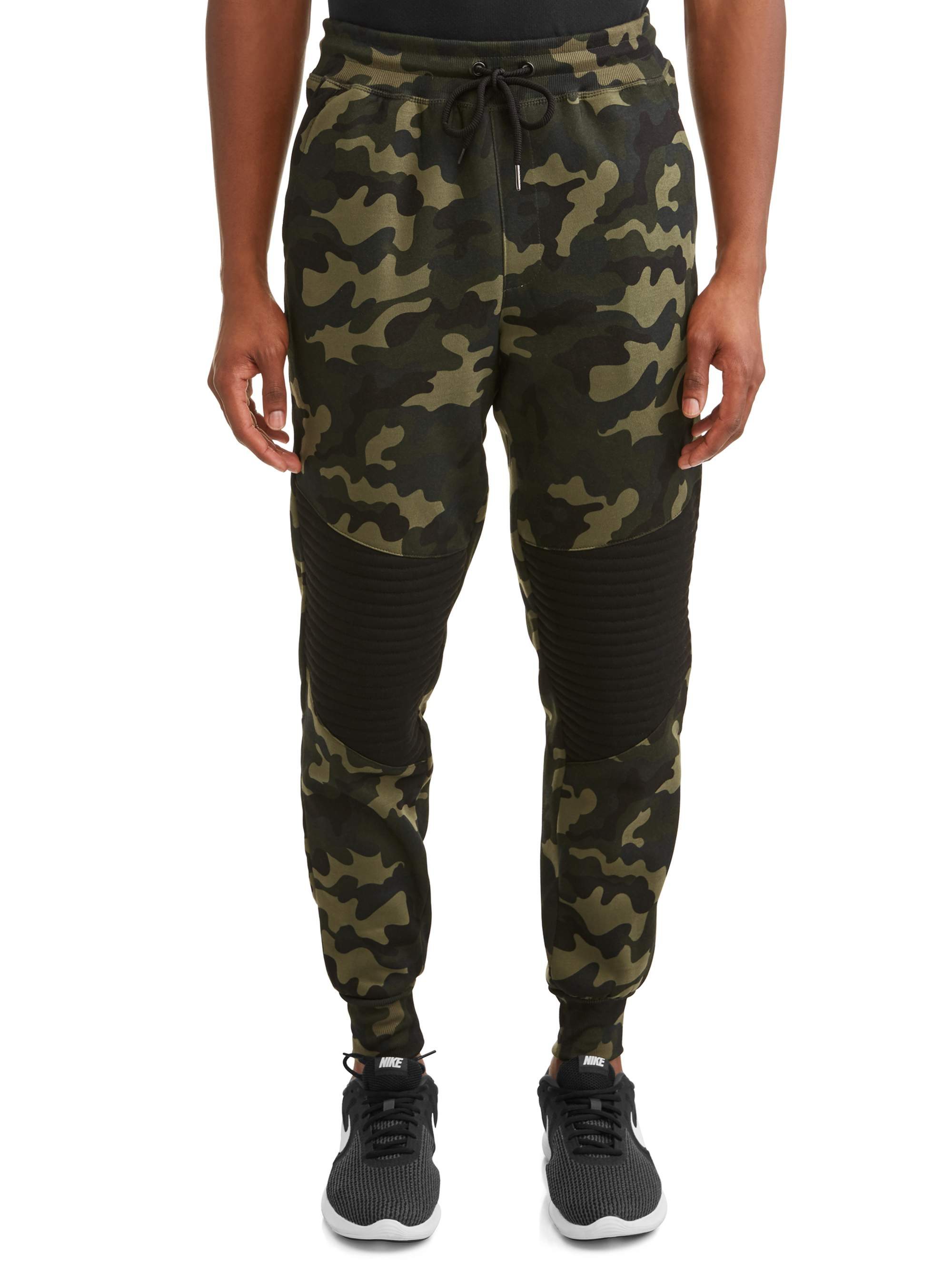 Men's Fleece Tapered Jogger with Quilted Knee Insert