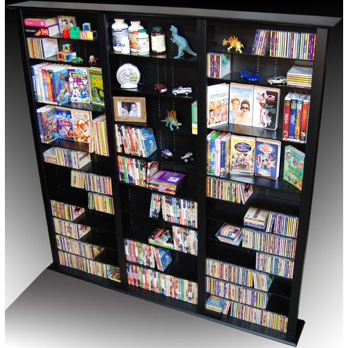 Venture Horizon VHZ Entertainment Large Triple Multimedia Storage Rack