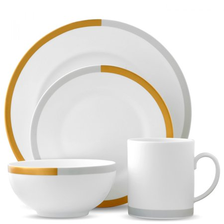 Wedgwood Vera Castillon Gold/Gray 4-Piece Setting