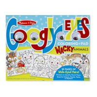 Melissa and Doug Wacky Animals Googly Eyes Coloring Pad Toy