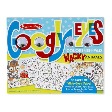Melissa and Doug Wacky Animals Googly Eyes Coloring Pad Toy ()