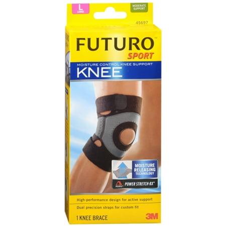 FUTURO Sport Moisture Control Knee Support, Large 1 ea (Pack of - Sport Moisture Control Knee Support