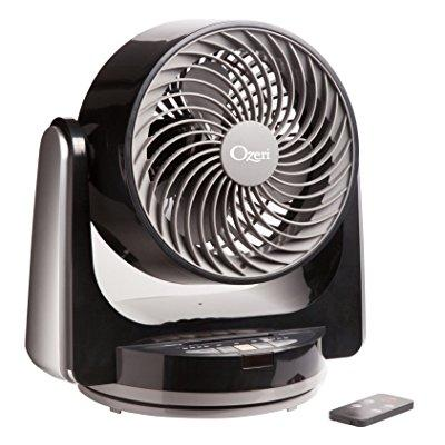 Ozeri Brezza III Dual Oscillating 10 High Velocity Desk and Table Fan