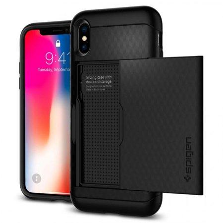 cheap for discount 156e3 0de29 APPLE IPHONE X SPIGEN CRYSTAL WALLET CASE-BLACK - Walmart.com