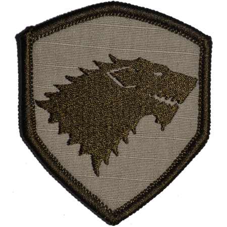 Stark Wolf Crest Game of Thrones - 2.5x3 Shield Patch ()