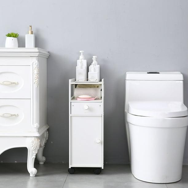Small Bathroom Storage Corner Floor Cabinet With Doors And Shelves Narrow Bath Sink Organizer Towel Storage Shelf For Paper Holder Walmart Com Walmart Com