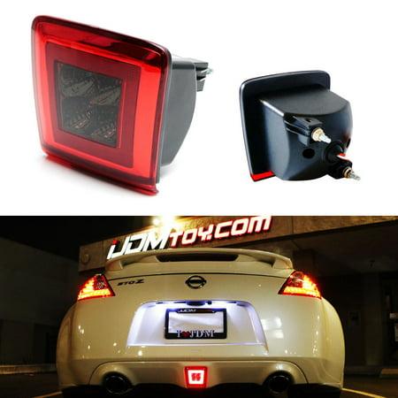 iJDMTOY Red/Dark Lens Rear Fog Light LED Assembly For 2009-up Nissan 370Z & 2013-2017 Juke Nismo (Integrated Rear Fog Light, Brake Light, Backup Light Features) (Backup Light Lens Gasket)