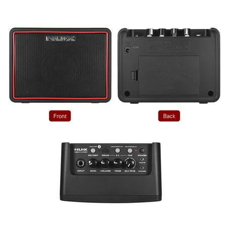 NUX Mighty Lite BT Mini Ampli guitare de bureau électrique 3W Amp 3 canaux Intégration des effets de reverb à retard 9 Patterns de batterie Métronome Tape Tempo - image 5 of 7
