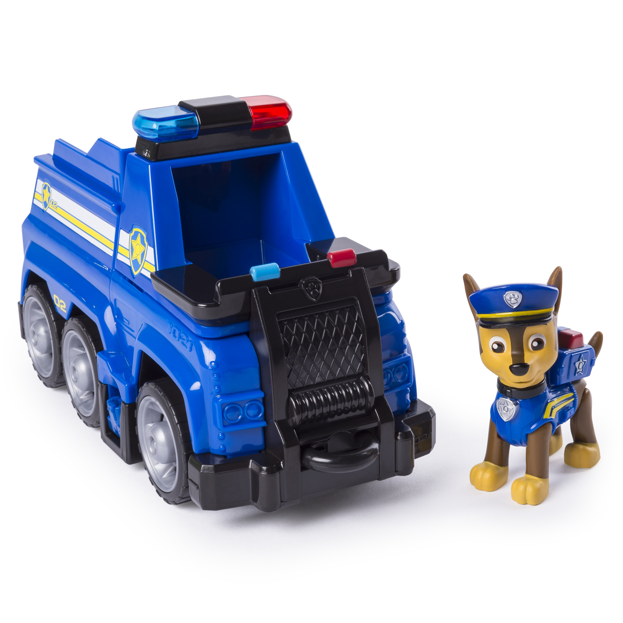 PAW Patrol Ultimate Rescue - Chase's Ultimate Rescue Police Cruiser with Lifting Seat and Fold-out Barricade, for Ages 3 and Up