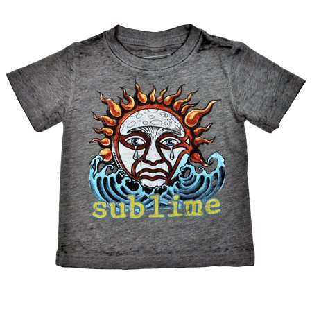 Rocks California Toddler T-shirt (Sublime Sun Burnout Toddler Baby Rock Band Boys Graphic)