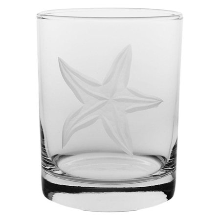 Rolf Glass 14 oz. Starfish Double Old Fashioned Glass One