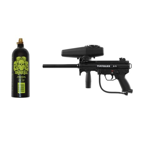 Tippmann A-5 Paintball Marker Gun & 20oz Tank Set