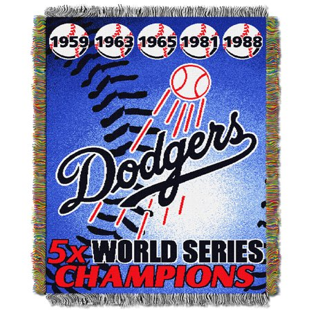 Los Angeles Dodgers MLB World Series Commemorative Woven Tapestry Throw (48