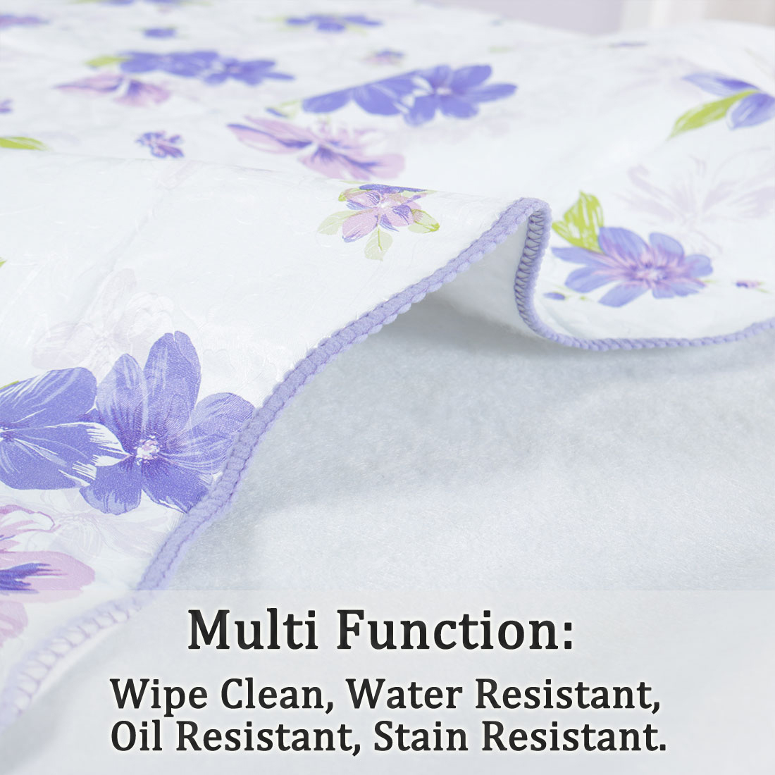 """Tablecloth PVC Oil Stain Resistant Wedding Camping Table Cloths 54"""" x 72"""",#9 - image 4 de 7"""