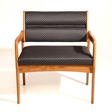 Bariatric Office Guest Chair - Oak Bariatric Office Guest Chair w Medium Finish (Cabernet Burgundy)