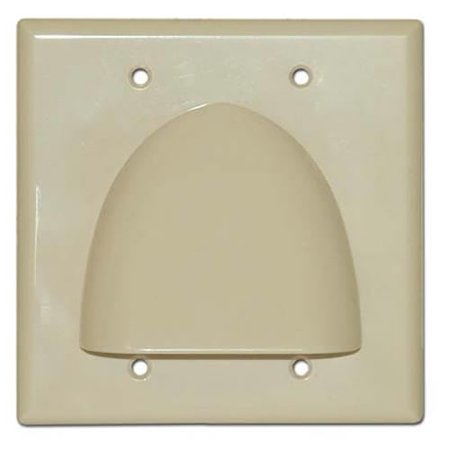 Skywalker Signature Series Double Gang Bundled Cable Wall Plate Ivory