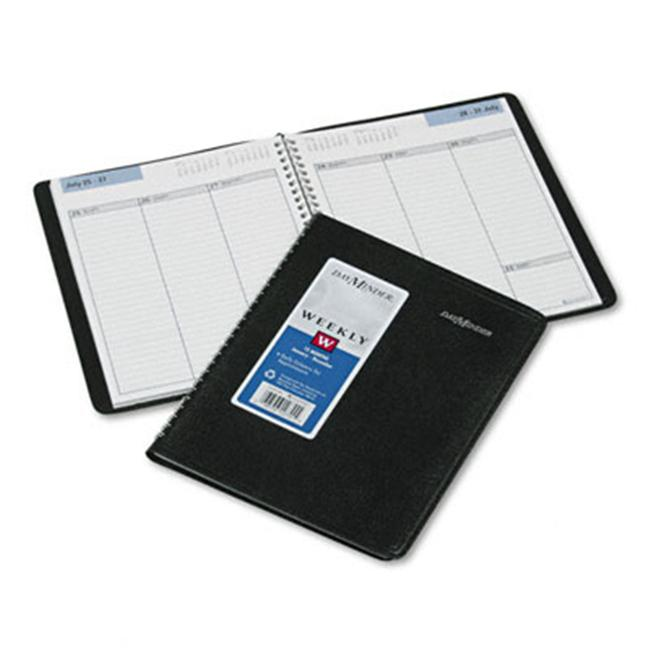 At-A-Glance G59000 Weekly Appointment Book  Ruled without Appointment Times  6-7/8 x 8-3/4  Black