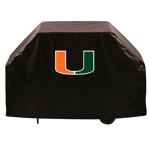 NCAA Grill Cover by Holland Bar Stool, 72'' - Miami Hurricanes