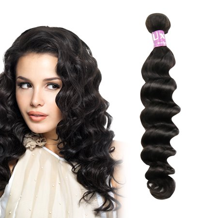 (Unique Bargains Loose Curly Human Hair Extension 12