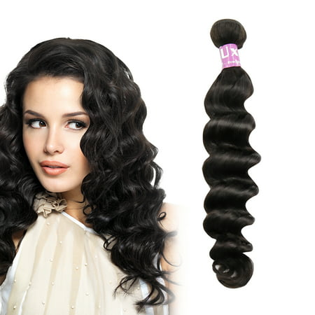 Unique Bargains Loose Curly Human Hair Extension 12