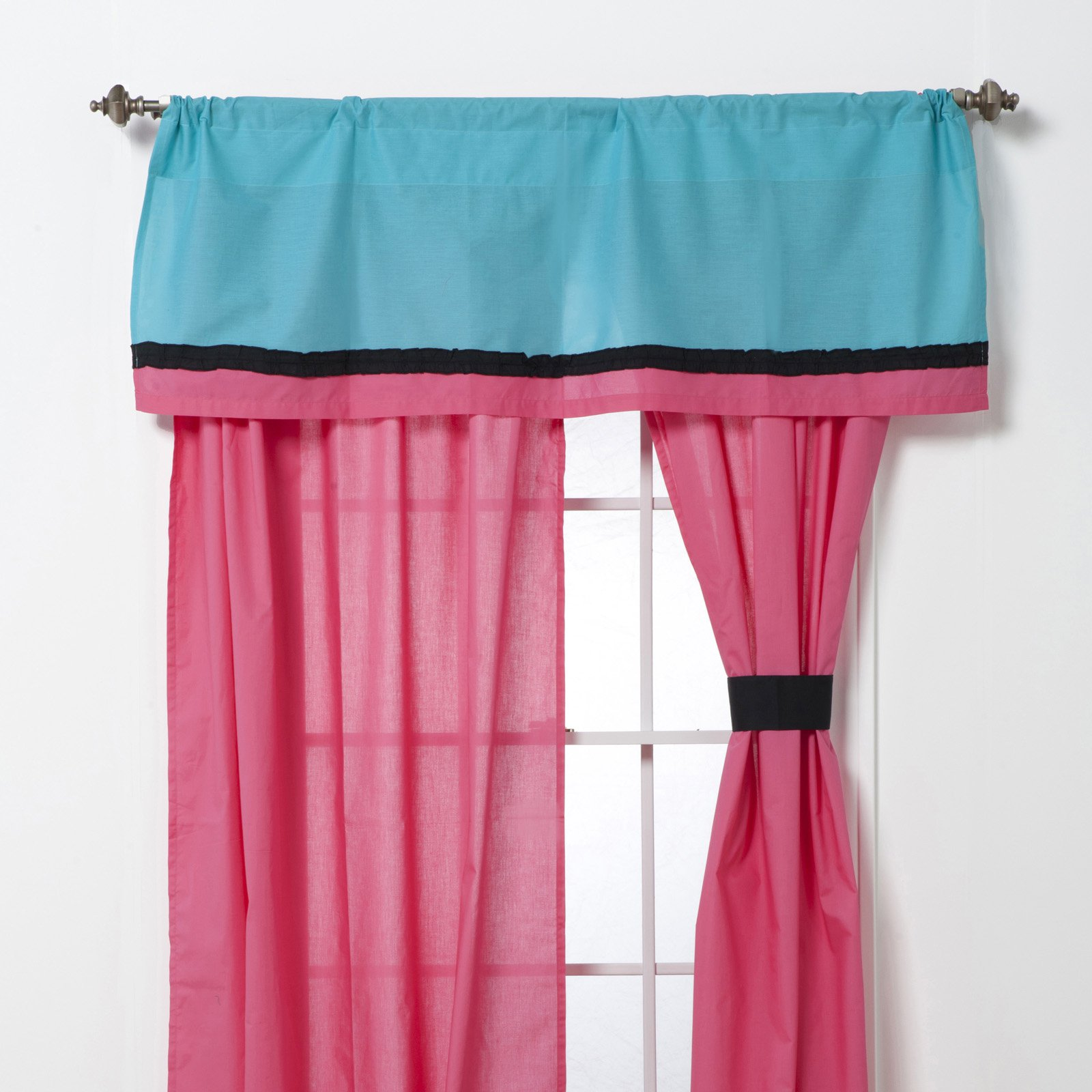 Magical Michayla Curtain Panel Pair with Optional Valance