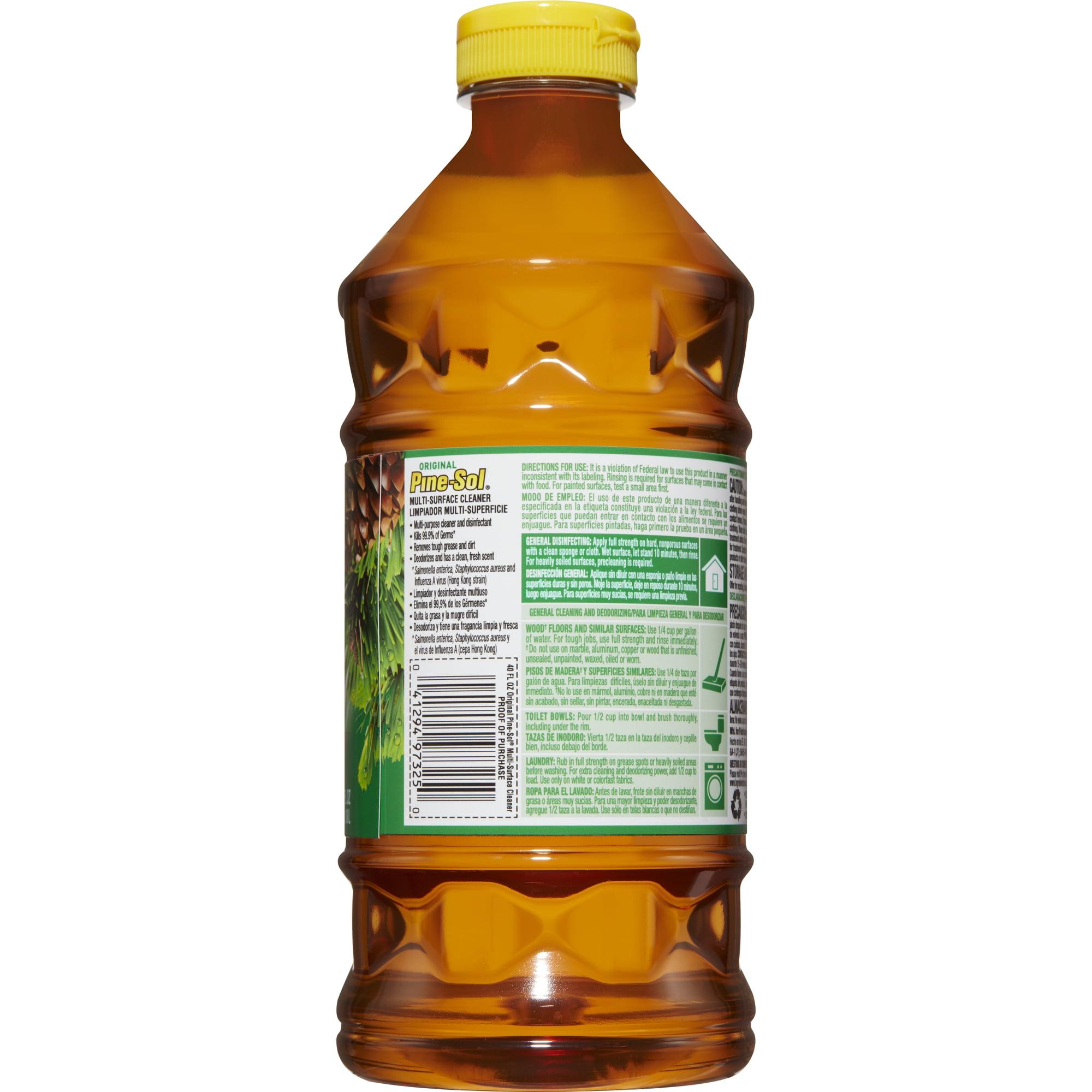 PineSol MultiSurface Cleaner Original Oz Bottle Walmartcom - Pine sol for vinyl floors