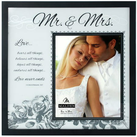 Malden 8 X 10 Mr And Mrs Frosted Glass Picture Frame