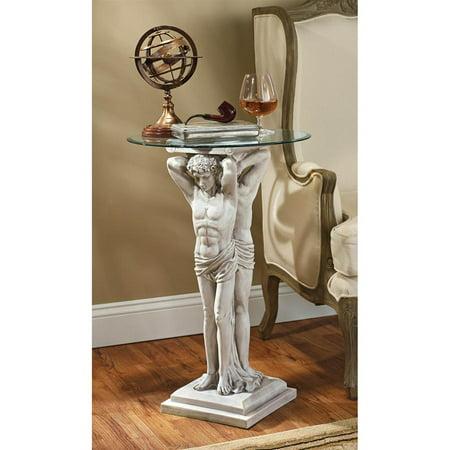 Glass Metal Pedestal (Design Toscano Hermitage Atlantes Glass-Topped Pedestal)
