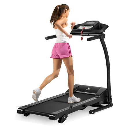 Foldable Quiet Electric Treadmill Manual Incline Motorized Running Machine for Home with LED Display, Heart Rates Monitoring, Emergency Stop, Miles Track, 300Lb. Load Capacity