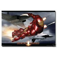 Iron Man Movie Poster In Flight New 24x36