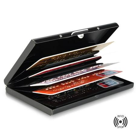 bddc516b045 Credit Card Holder for Women or Men Metal Credit Card Wallet Protector  Metal Credit Card Case Holder - Walmart.com