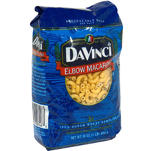 DaVinci Elbow Macaroni, 16 oz (Pack of 12)