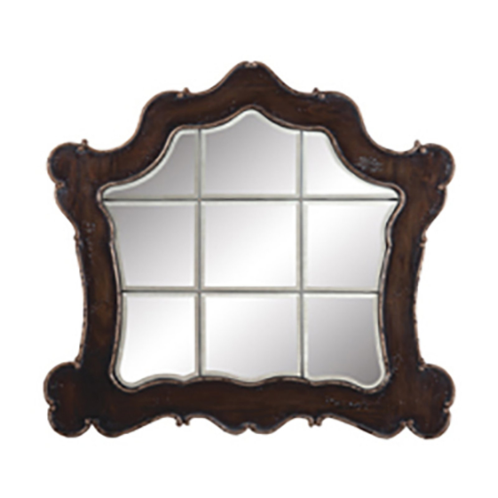 Guild Master Ornate Heritage Beveled Mirror - 52W x 48H in.