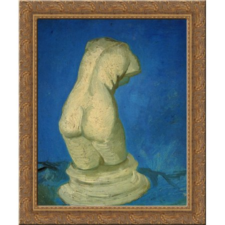 Plaster Statuette of a Female Torso 24x20 Gold Ornate Wood Framed Canvas Art by Vincent van (Female Statuette)