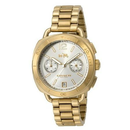 Coach Womens Tatum Gold PVD Plated Silver Dial 14502603 Watch (Womens Coach Watches Silver)