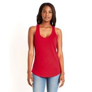 Branded Next Level Ladies Gathered Racerback Tank Top - RED - S (Instant Saving 5% & more on min 2)