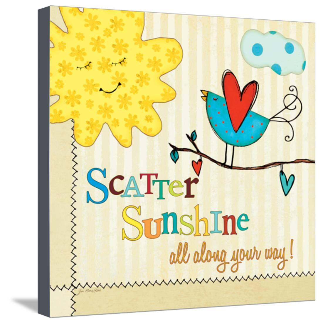 Sunshine Stretched Canvas Print Wall Art By Jo Moulton
