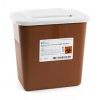 McKesson Prevent Sharps Container  10.25 H X 7 W X 10.5 D Inch 2 Gallon Red Base Case of 20