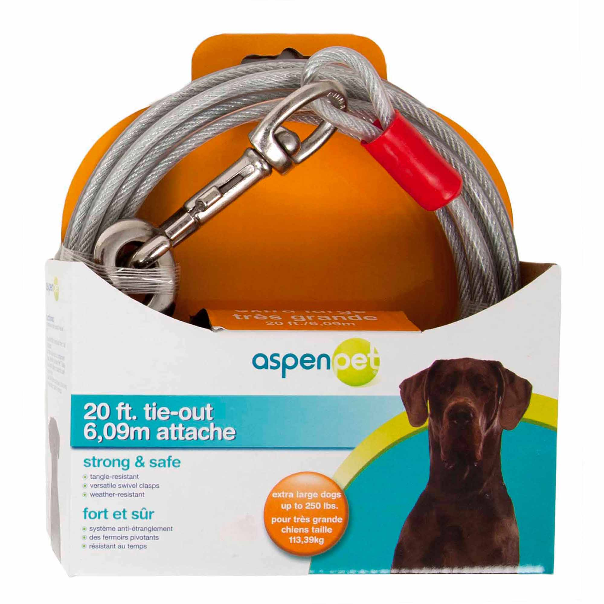 Aspen Pet XL Tie-Out Cable, 20'