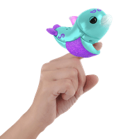 Fingerlings Baby Light-up Dolphin - Aqua (Blue and Purple) - Interactive Toy