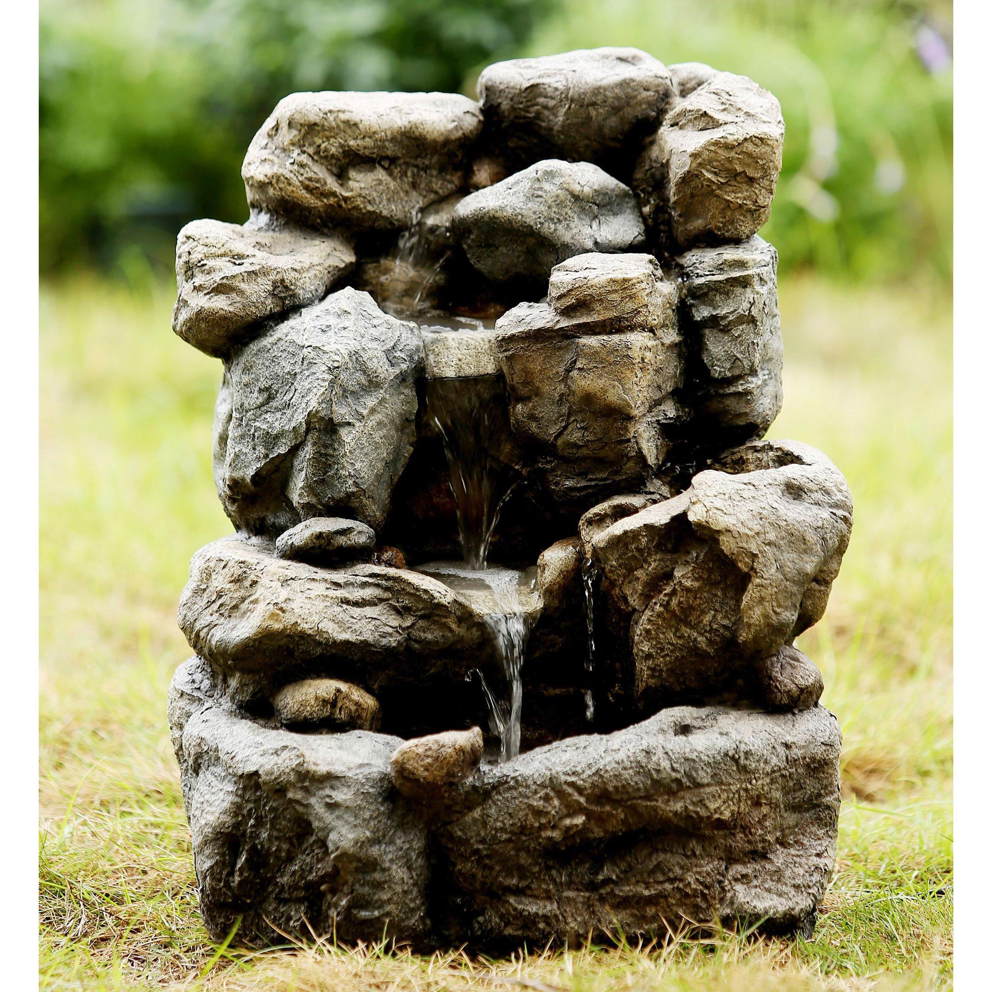 Jeco Small Rock Indoor/Outdoor Fountain