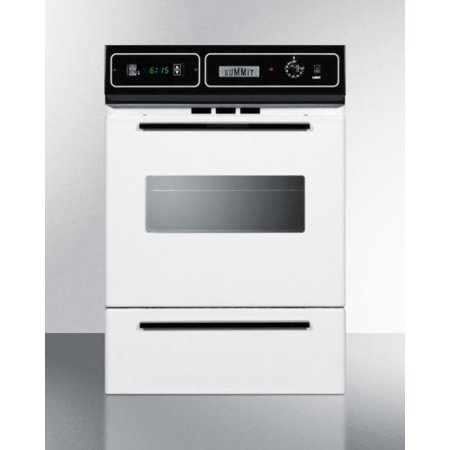 Summit 24 Inch Gas Walloven with White Door and (Built In Gas Oven And Gas Grill)